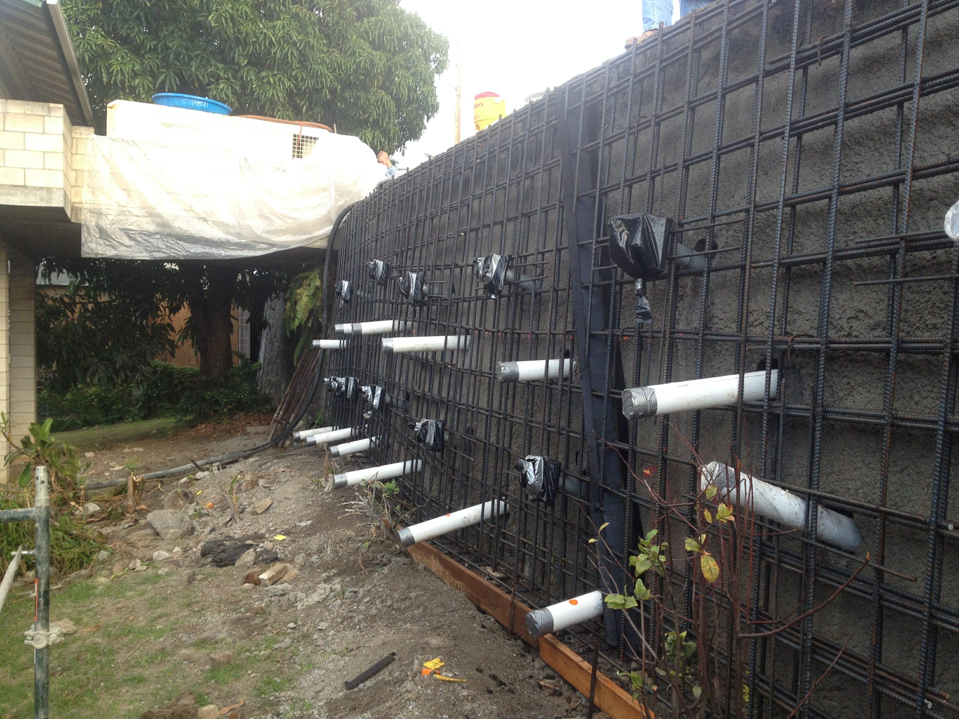 Papakolea Stabilize Slipping Retaining Wall Hawaii
