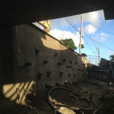 Retaining wall job in Honolulu, Hawaii
