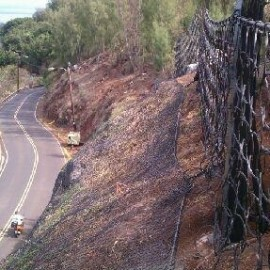 Pupukea Road Rockfall Mitigation – Phase 1