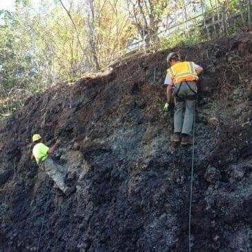 Waikele Gulch Bunkers Rock Scaling