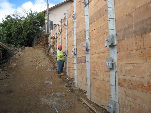 Honoka A Rock Wall Repairs Hawaii Rockfall Mitigation