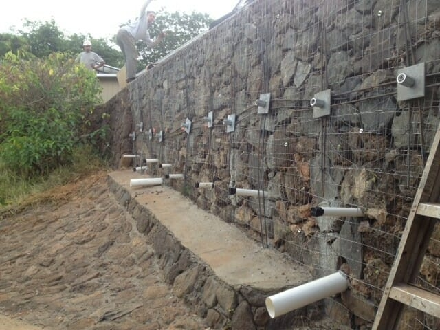 Kaneohe Bay Reinforce Rock Retaining Wall Hawaii