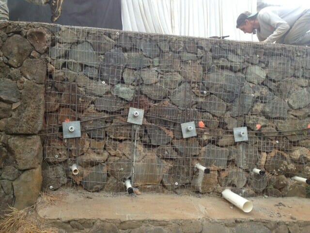 Kaneohe Bay Reinforce Rock Retaining Wall Hawaii