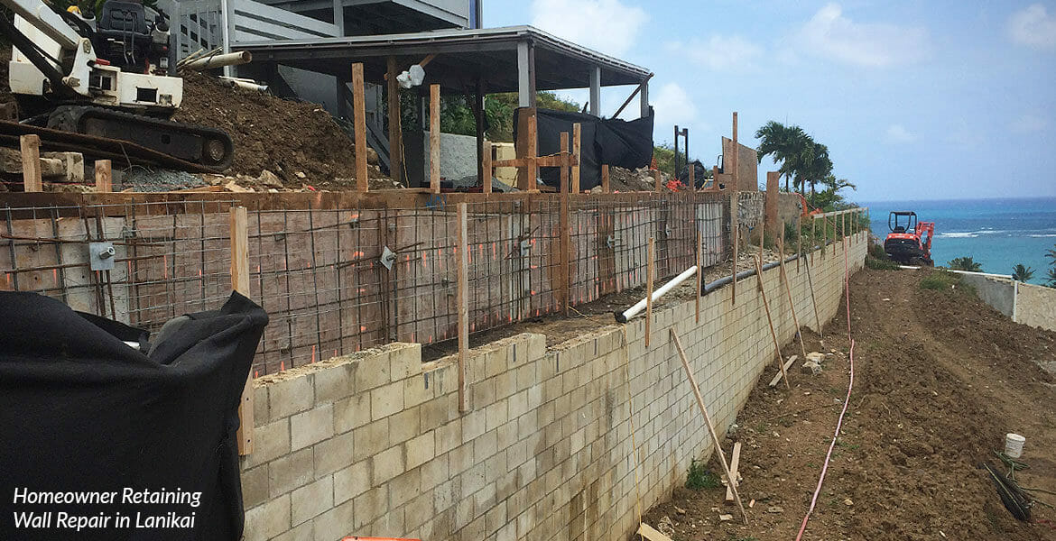 Retaining Wall Builders and Repair in Hawaii