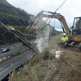 Mokapu Saddle Road  – Kaneohe Rockfall Mitigation