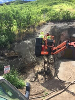 Shotcrete Removal & Repair Diamond Head Tunnels