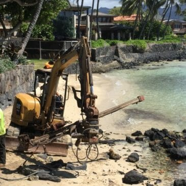 Seawall Stabilization in Honolulu, Hawaii