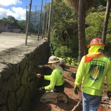 Kamehameha Schools Tennis Court Retaining Wall Repairs