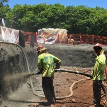 Lahaina, Maui Excavation Shotcrete and Soil Nail Shoring