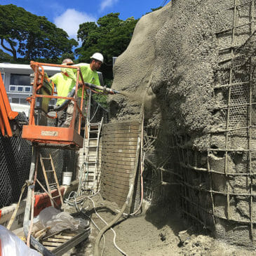 Shotcrete Wall with Micropiles on Hoalu Place in Honolulu, Hawaii