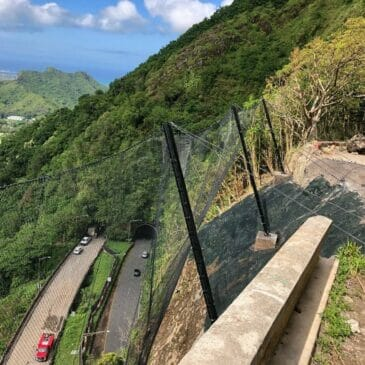 Pali Highway Emergency Rockslide Repair